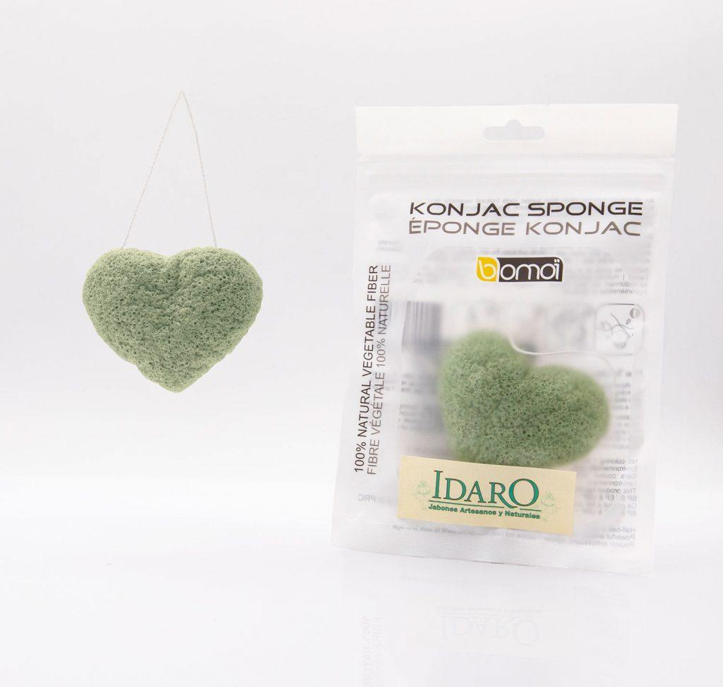 Esponjas de Konjac con té verde   Idaro
